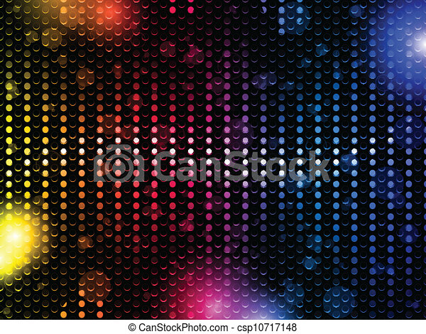 Colorful Rainbow Neon Party Background - csp10717148