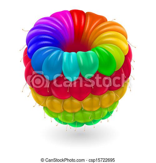 Colorful raspberry. - csp15722695