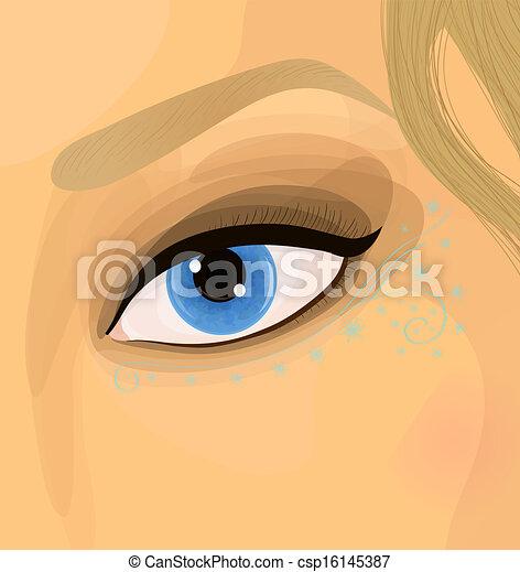 Colorful raster make up illustration - csp16145387