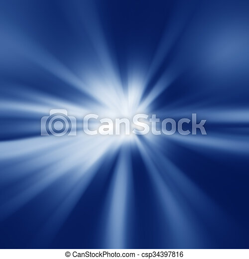 Colorful rays of light - csp34397816