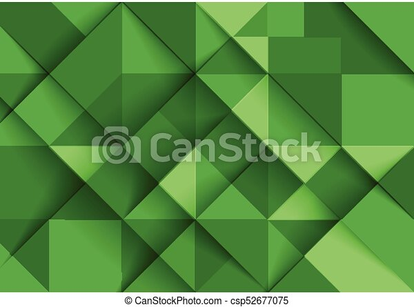 Colorful rectangular geometric green background pattern of squares ...