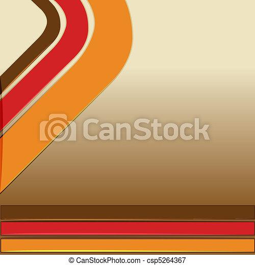 colorful retro background - csp5264367