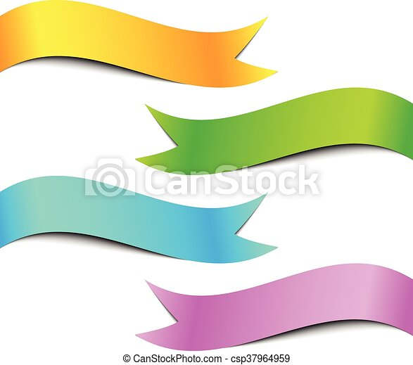 colorful ribbon banner set white background vector clipart vector rh canstockphoto com ribbon banner vector file ribbon banner vector cdr