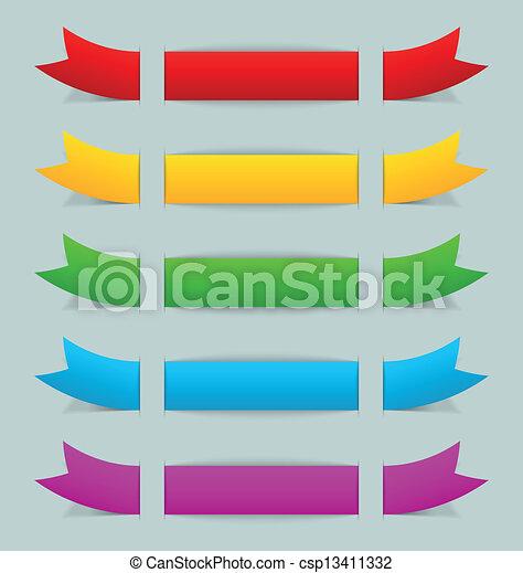 Colorful ribbons - csp13411332