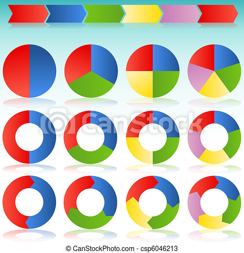 Colorful Round Arrow Process Icon Slide - csp6046213