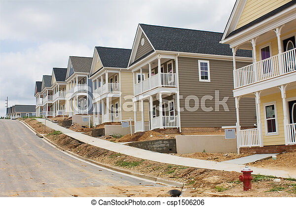 colorful row houses - csp1506206