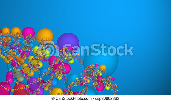 Colorful scientific abstract fractal background - csp30882362