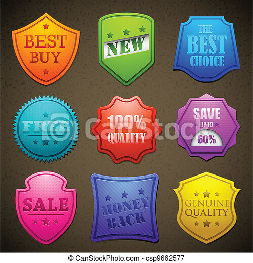 Colorful Selling Badge - csp9662577