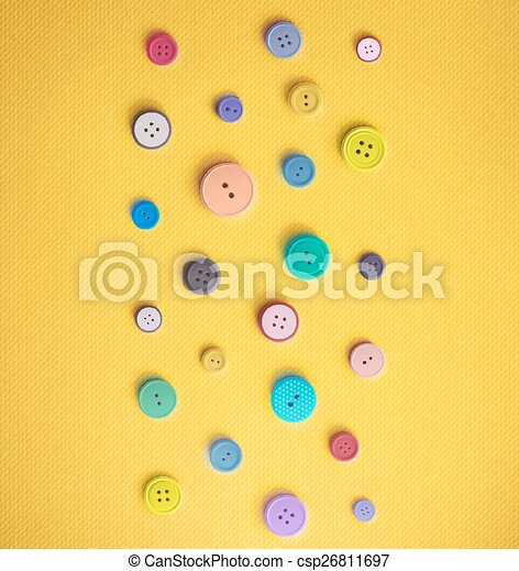 Colorful Sewing Buttons - csp26811697