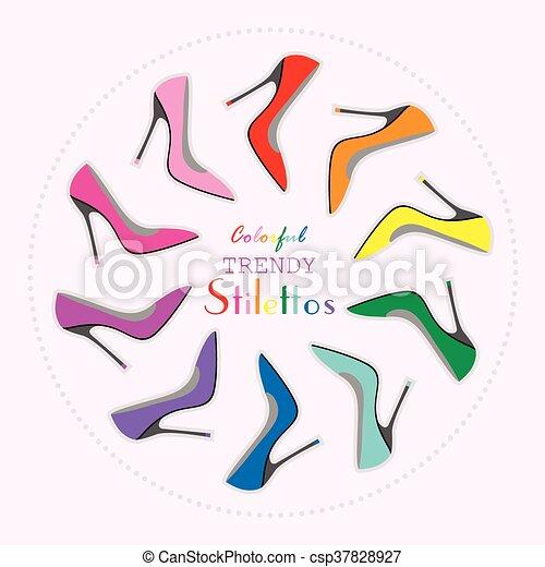a64a0b443a171 Colorful sexy stilettos high heels