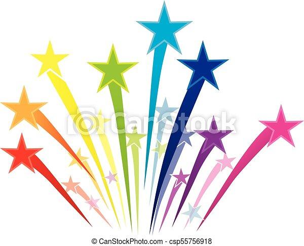 colorful shooting stars logo shooting stars vector clip art rh canstockphoto com shooting stars clipart free shooting stars clipart free