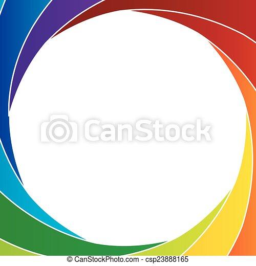 Colorful Shutter aperture - csp23888165