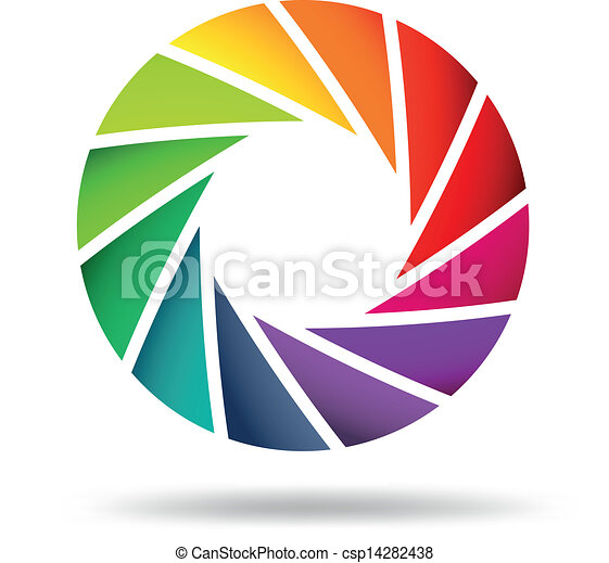 Colorful shutter aperture - csp14282438