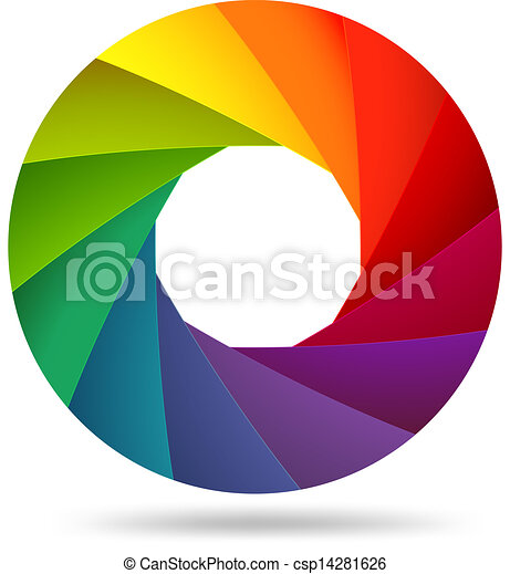 vector illustration of colorful shutter aperture vector illustration rh canstockphoto com aperture vector free download aperture vector png