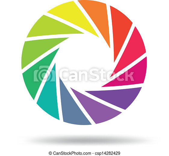 Colorful shutter aperture - csp14282429