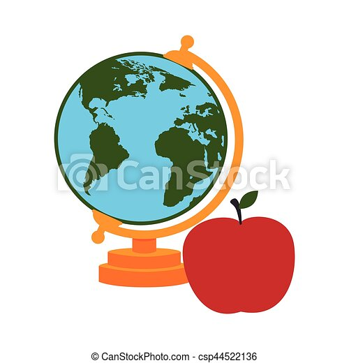 Colorful silhouette with map of world and apple vector illustration colorful silhouette with map of world and apple csp44522136 gumiabroncs Images