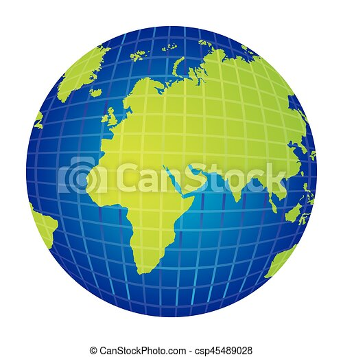 Colorful silhouette with world map view from left side vector colorful silhouette with world map view from left side csp45489028 gumiabroncs Choice Image