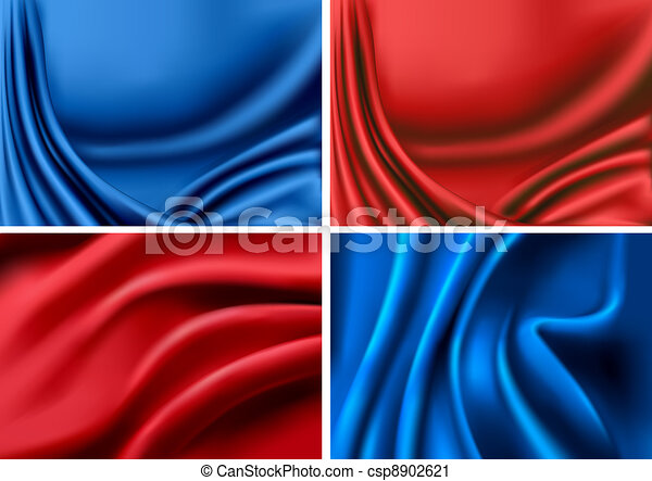 colorful silk backgrounds  - csp8902621