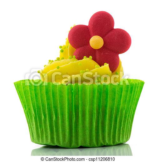 Colorful single cupcake - csp11206810