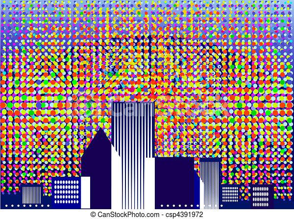 Colorful Skyline - csp4391972