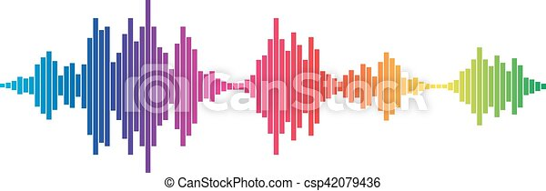 Colorful Sound waves - csp42079436