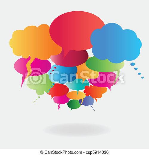 Colorful speech balloons - csp5914036
