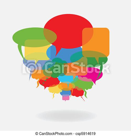 Colorful speech balloons - csp5914619