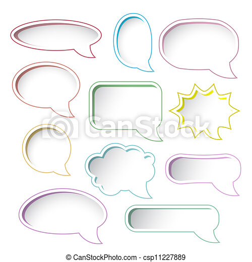 Colorful speech bubble frames. - csp11227889