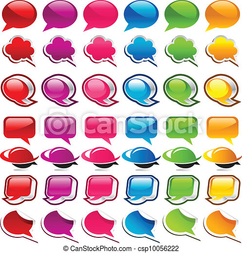 Colorful Speech Bubble Icons - csp10056222