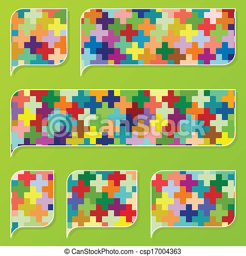 Colorful speech bubbles and balloons cloud - csp17004363