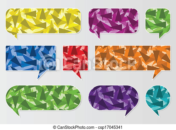 Colorful speech bubbles and balloons cloud - csp17045341