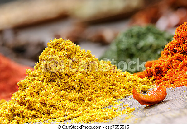 Colorful spices - csp7555515