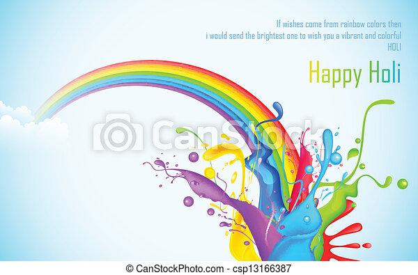 Colorful Splash in Holi Wallpaper - csp13166387