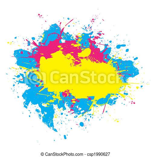 Colorful Splattered Paint  - csp1990627