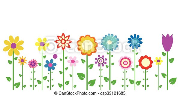 Colorful spring flowers vector illustration colorful spring flowers vector mightylinksfo