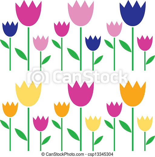colorful spring tulips set isolated on white garden tulips rh canstockphoto com spring vector art spring vector free