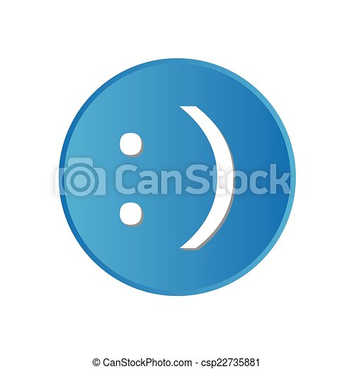 a colorful square buttons for website or app smiley face