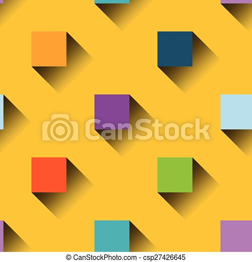 Colorful squares seamless pattern - csp27426645