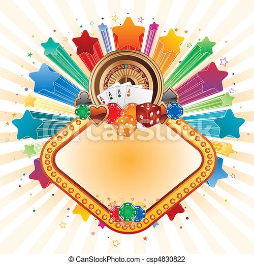 colorful star,casino design element - csp4830822