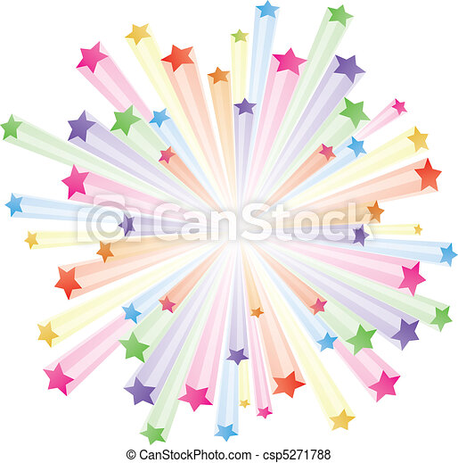 vector illustration of colorful stars explode on white vector rh canstockphoto ie Colorful Stars Clip Art Graduation Colorful Star Cluster Clip Art