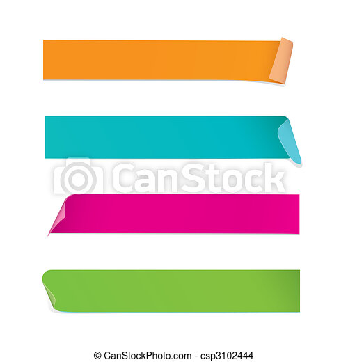 Colorful Stickers (vector) - csp3102444