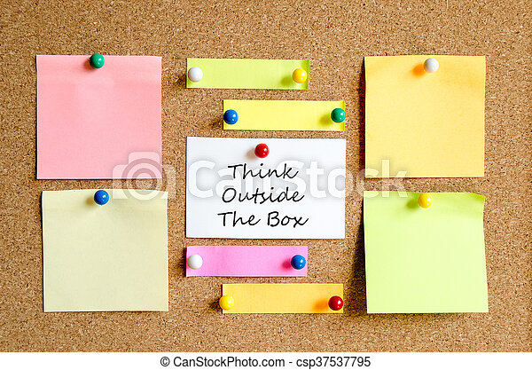 Colorful sticky notes - csp37537795