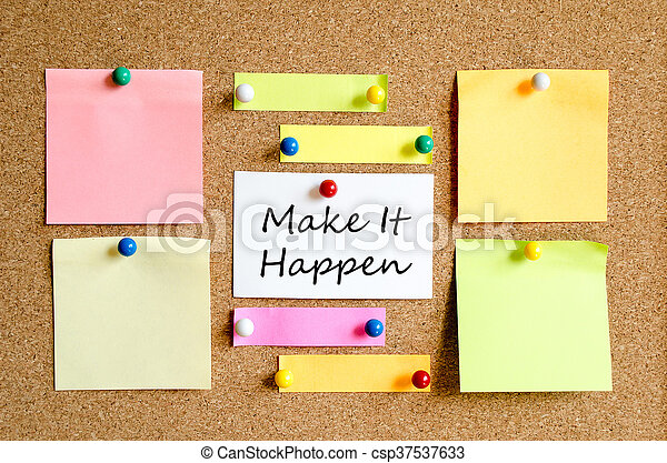Colorful sticky notes - csp37537633
