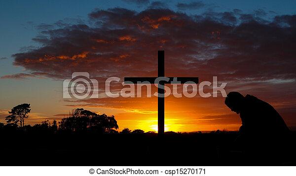 Colorful Sunrise Cross - csp15270171
