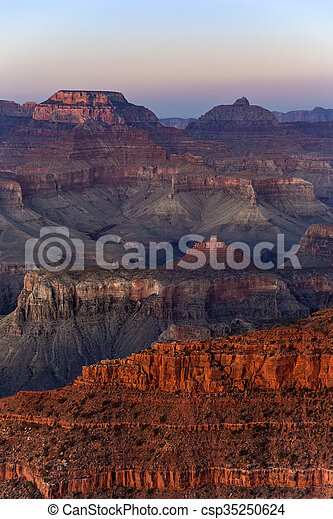 Colorful Sunset at the Great Canyon - csp35250624