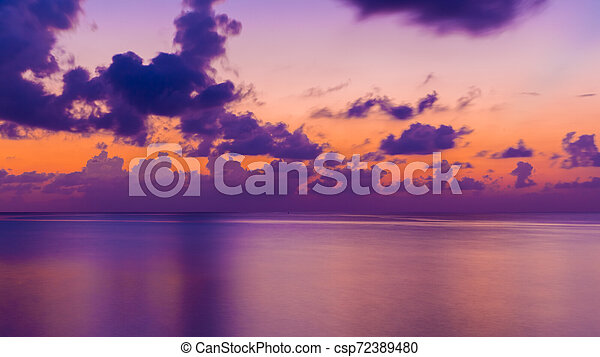 Colorful Sunset in the Beach - csp72389480