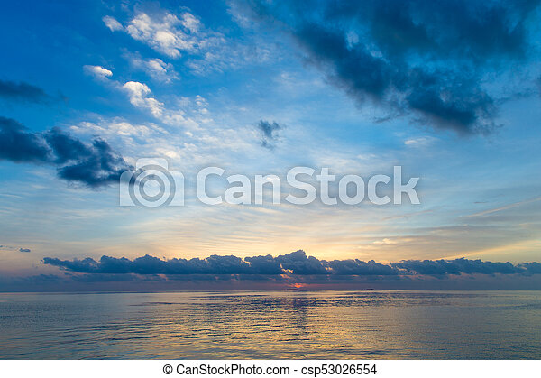 Colorful Sunset In The Beach - csp53026554