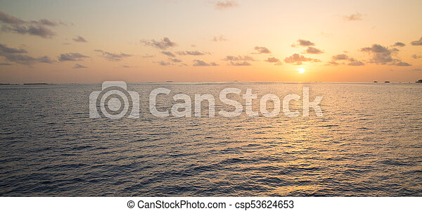 Colorful Sunset In The Beach - csp53624653