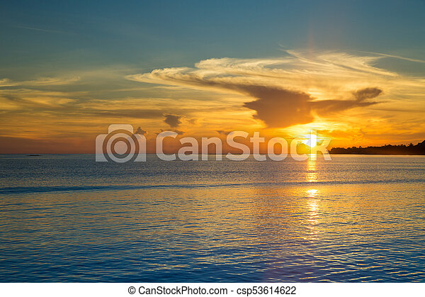 Colorful Sunset In The Beach - csp53614622