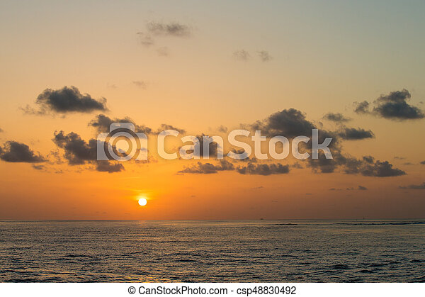 Colorful Sunset In The Beach - csp48830492